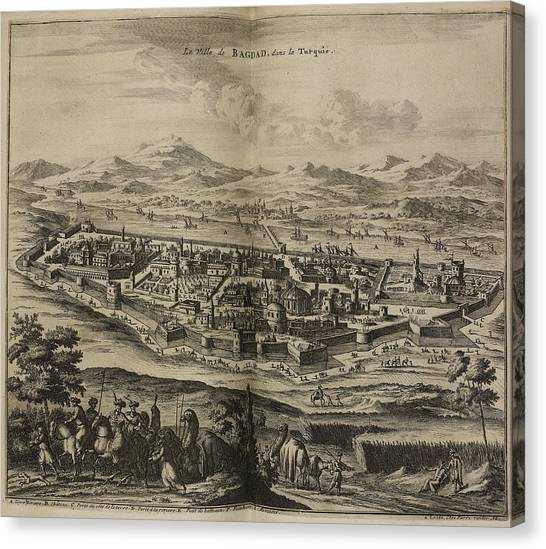 Baghdad Canvas Print - Baghdad And Surrounding Landscape by British Library