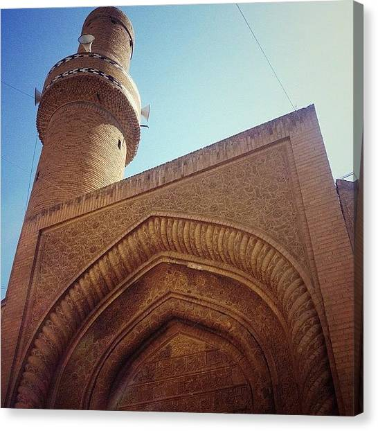 Islamic Art Canvas Print - #baghdad #mosque #iraq #iraki #islamic by Nawar Al-ani