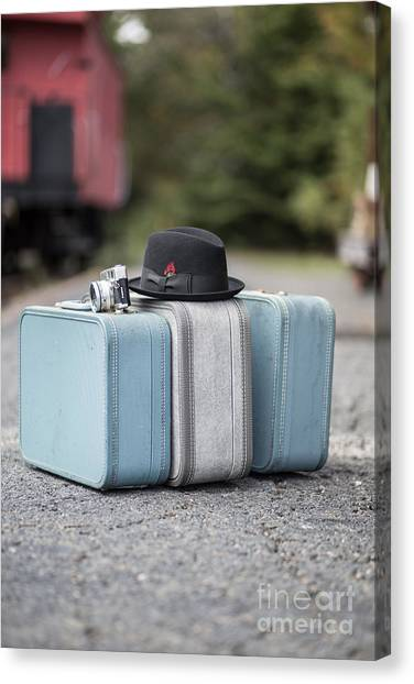 Caboose Canvas Print - Bags All Packed Ready To Go by Edward Fielding