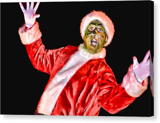 Grinch Canvas Print - Bah Humbug by Joe Bledsoe