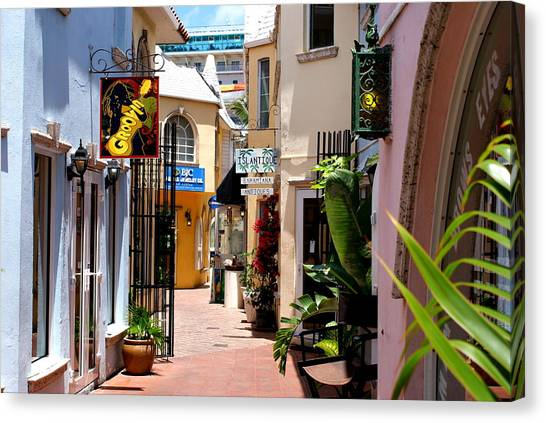 Bahamian Shops Canvas Print