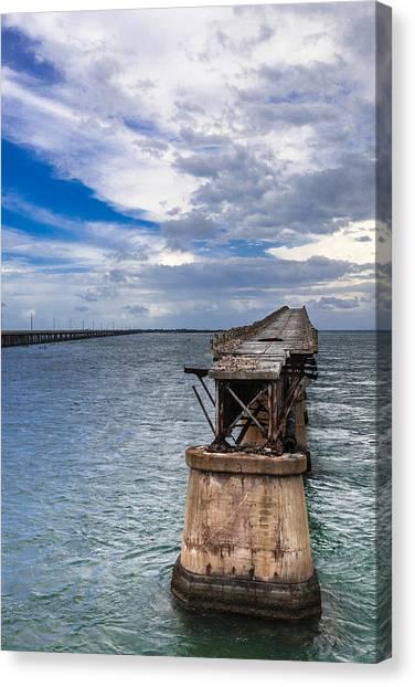 Bahia Honda Bridge By Day Canvas Print by Dan Vidal