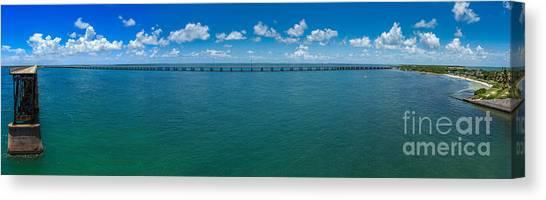 Bahia Honda Bridge Panorama Canvas Print