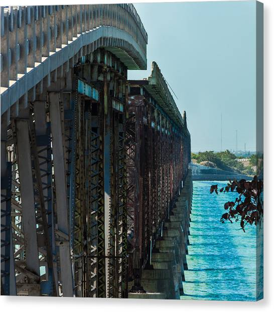 Bahia Honda Bridge Patterns Canvas Print