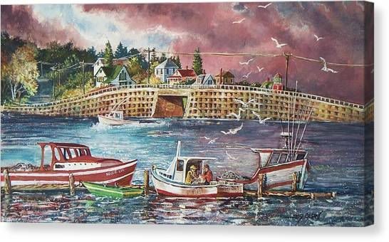 Bailey Island Cribstone Bridge Canvas Print