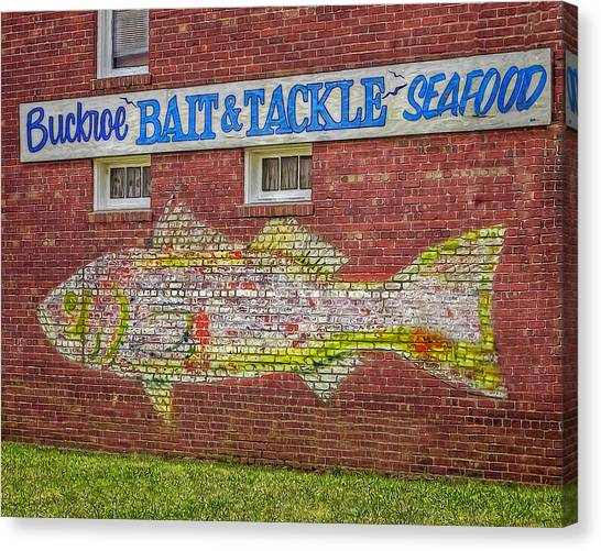 Bait Tackle Seafood Shop Detail Canvas Print