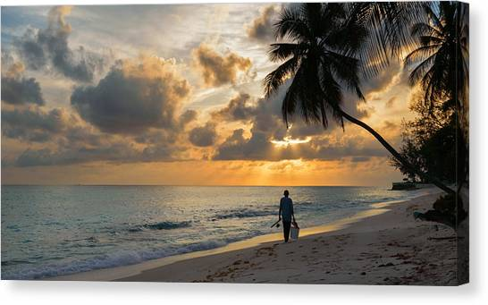 Canvas Print featuring the photograph Bajan Fisherman by Garvin Hunter