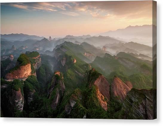 China Canvas Print - Bajiaozhai Park by Tony Shi