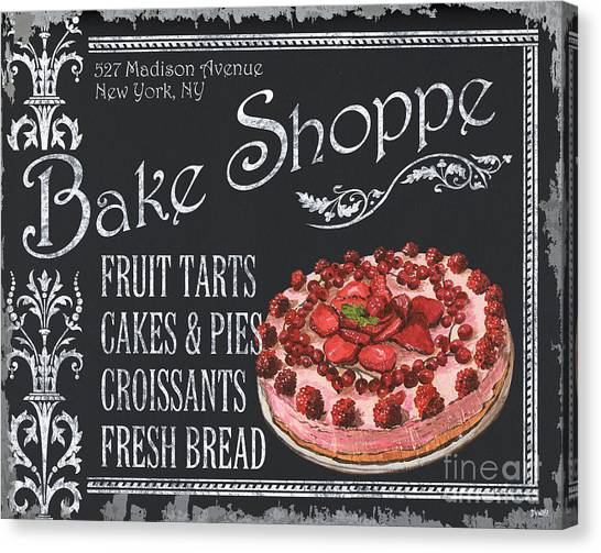 Old Canvas Print - Bake Shoppe by Debbie DeWitt