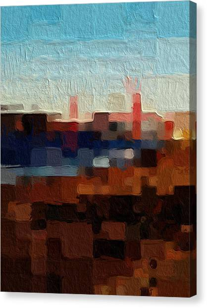 Abstract Designs Canvas Print - Baker Beach by Linda Woods