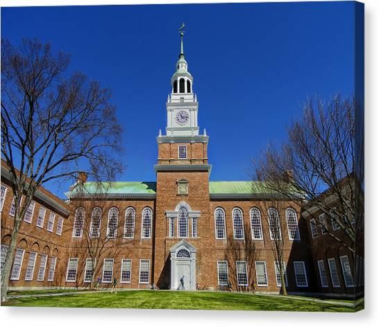 Dartmouth College Canvas Print - Baker Memorial Library - Dartmouth College by Mountain Dreams