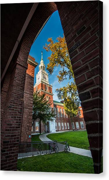 Dartmouth College Canvas Print - Baker Memorial Library by Jeff Ortakales