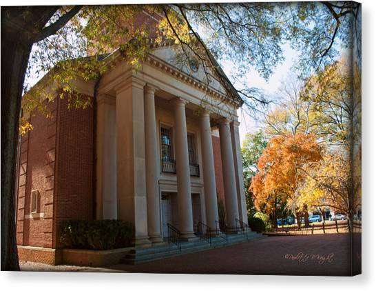 Bachelors Degree Canvas Print - Baker-watt Science Complex - Davidson College by Paulette B Wright