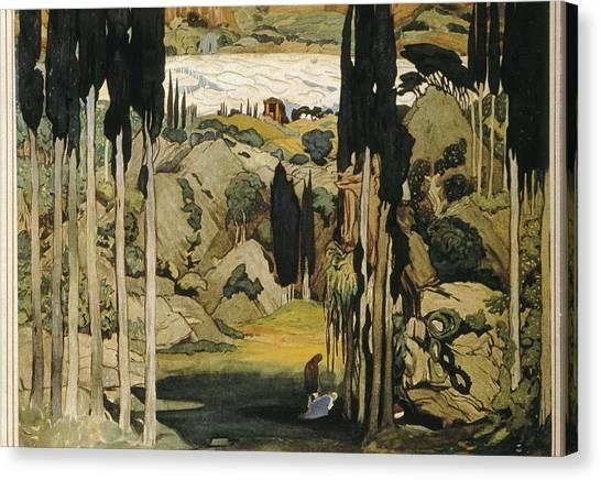 Bakst, L�on 1866-1924. Daphnis Et Canvas Print by Everett