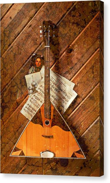 Stringed Instruments Canvas Print - Balalaika by Garry Gay