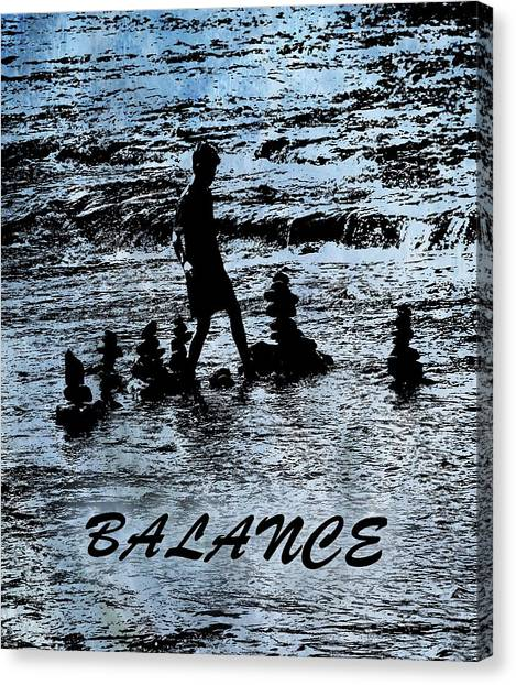 Balance Beam Canvas Print - Balance And Zen by Dan Sproul
