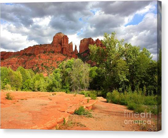 Cathedral Rock Canvas Print - Balance At Cathedral Rock by Carol Groenen