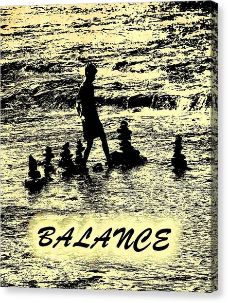 Balance Beam Canvas Print - Balance Poster by Dan Sproul