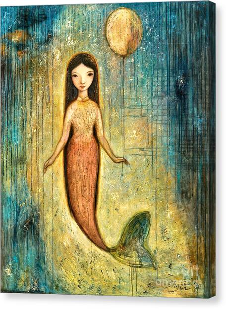 Mermaids Canvas Print - Balance by Shijun Munns