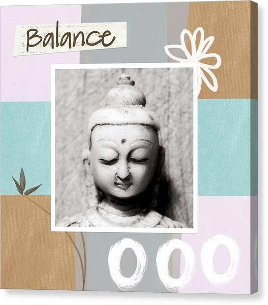 Bamboo Canvas Print - Balance- Zen Art by Linda Woods