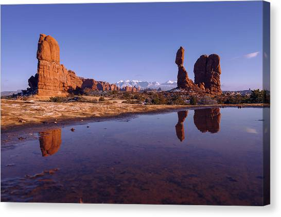 Winter Landscapes Canvas Print - Balanced Reflection by Chad Dutson