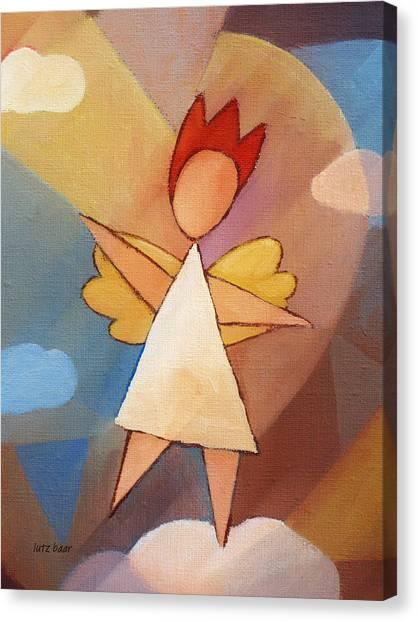 Balancing Angel Canvas Print by Lutz Baar