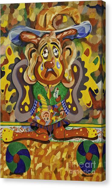 Balancing Clown Canvas Print