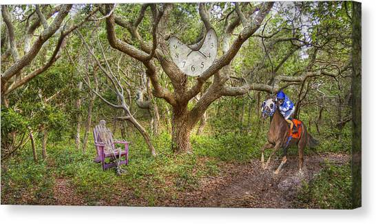 Ticks Canvas Print - Balancing Time by Betsy Knapp