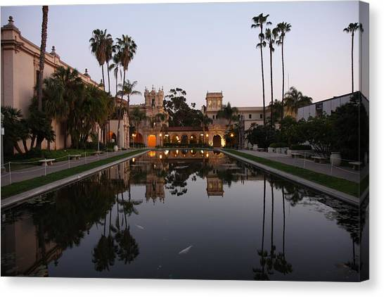 Balboa Park Reflection Pool Canvas Print