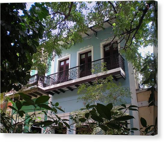 Balcony At La Caleta Canvas Print