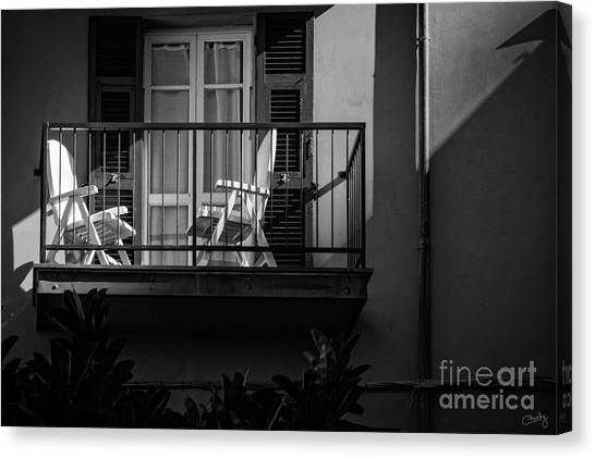 Balcony Bathed In Sunlight Canvas Print
