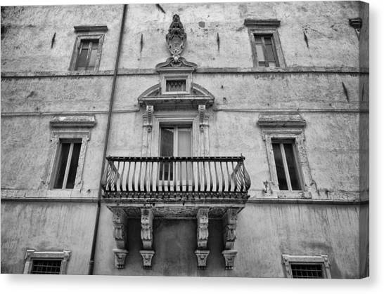 Balcony In Assisi Canvas Print