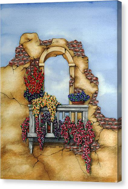 Balcony Canvas Print