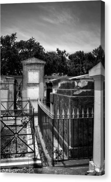 Balcony Of The Dead In Black And White Canvas Print