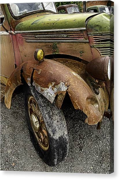 Bald Tire Canvas Print
