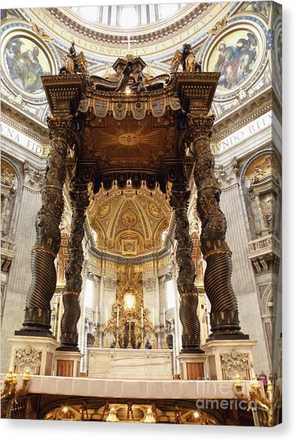 Baldacchino Di San Pietro Canvas Print