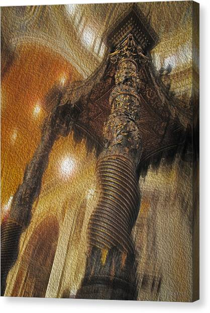 Canvas Print featuring the photograph Baldachino Number One by Joe Winkler
