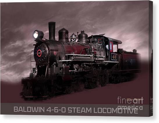 Baldwin 4-6-0 Steam Locomotive Canvas Print