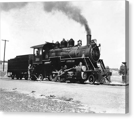 Freight Trains Canvas Print - Baldwin Locomotive 250 by Underwood Archives