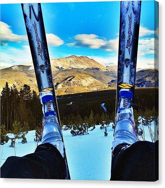 Rocky Mountains Canvas Print - Baldy Though Skis by Jonathan Joslyn