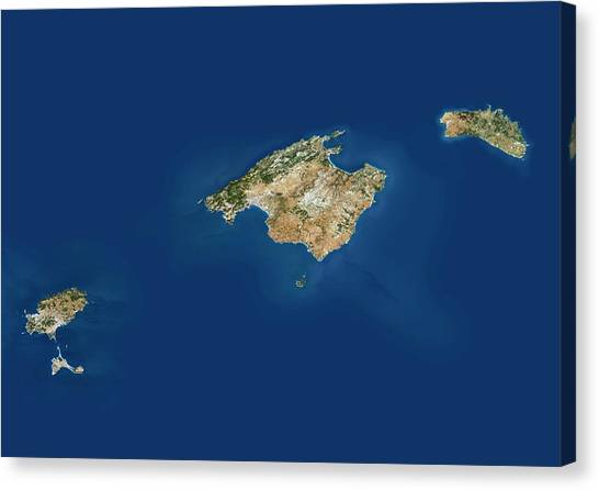Balearic Islands Canvas Print by Planetobserver/science Photo Library
