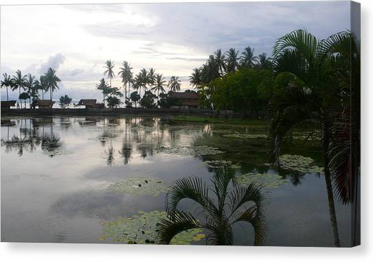 Bali Reflections In The Bay Canvas Print by Jack Adams