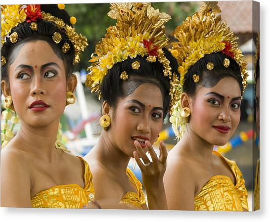 Cruise Ships Canvas Print - Balinese Dancers by David Smith