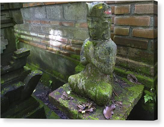 Balinese Praying Figure Canvas Print