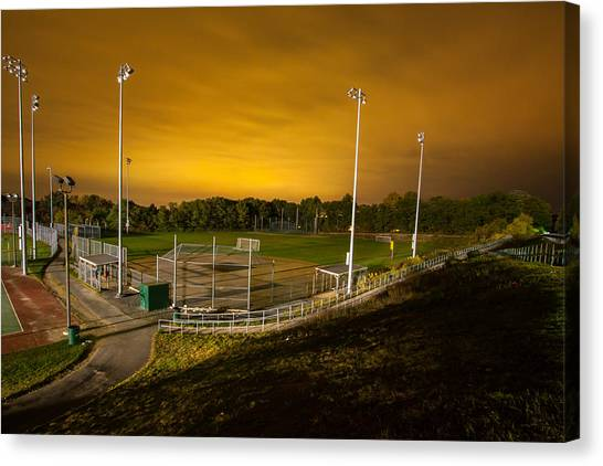 Ball Field At Night Canvas Print
