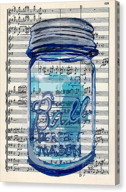 Ball Jar Classical  #129 Canvas Print
