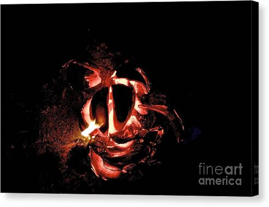Ball Of Fire Canvas Print by Bobby Mandal