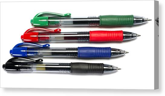 Ballpoint Pens Canvas Print - Ball Point Pens by Donald  Erickson