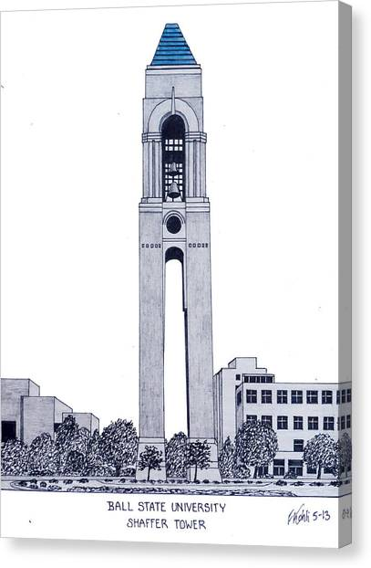 Ball State University Canvas Print - Ball State University by Frederic Kohli