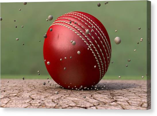 Crickets Canvas Print - Ball Strike by Allan Swart